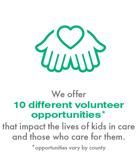 We offer 10 different volunteer opportunities